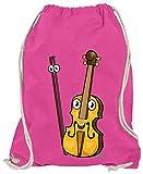 HARIZ Turnbeutel Geige Lachend Instrument Kind Witizg Plus Geschenkkarten Pink One Size