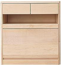3段チェスト 幅60cm 高さ64cm 天然木 メープル材 仏壇専用台 ナチュラル スライド式棚 スライドレール 引出 日本製 ALTAR