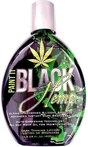 Paint It Black Hemp Indoor Tanning Bed Lotion w/Dark Bronzer By Millennium Tans