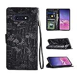 heroisnice S10 e Case Compatible with Samsung Galaxy S10e Phone Cover Gaxaly Glaxay S 10e 10 e Wallet Kickstand Folio Rugged Protective Gaoaxy Bumper 5.8 inch (Black)