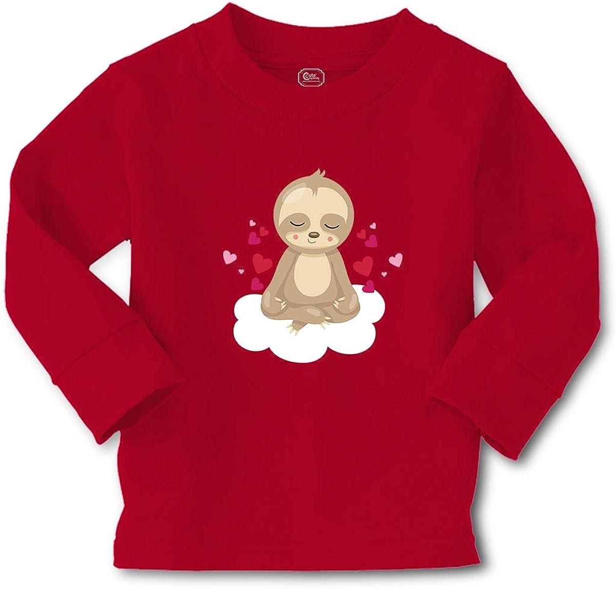 Cute Rascals Kids Long Sleeve T Shirt Valentine Sloth Hearts Cotton Boy & Girl Clothes