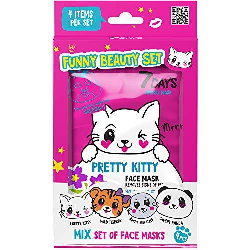 7DAYS Set Cadeau Funny Beauty Le Kit de 7 Masques Tissus...
