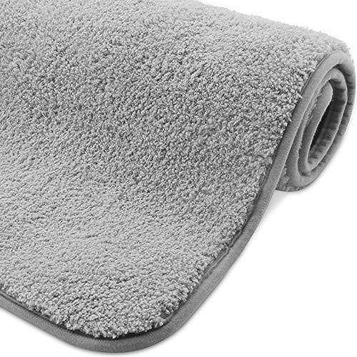 VPOW Badematte Badvorleger rutschfeste, Badteppich für das Badezimmer, wasserabsorbierende nachgeahmte Kaschmir Badematten 80 x 50 cm, waschbar, weiche Mikrofaser Fußmatte für Badewannen oder Duschen