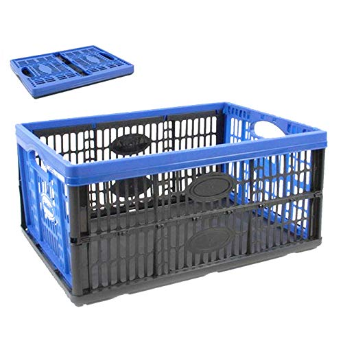 Tontarelli Caja Plegable de plástico 22.5 x 47 x 34 cm 32L Color Azul