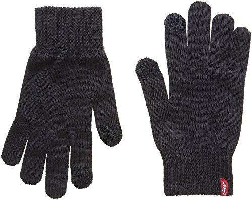 Levi's Herren Ben Touch Screen Gloves Handschuhe, Schwarz (Black), Medium