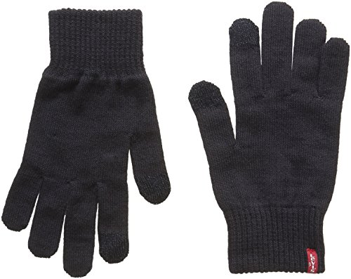 Levi's Herren Ben Touch Screen Gloves Handschuhe, Schwarz (Black), Medium