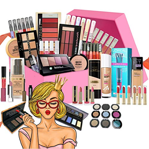 Kosmetik Überraschungsbox 25 Teile | Beauty Box | Make Up | Make-Up Sets | Markenkosmetik | Beauty Produkte | Geschenk Kosmetik Box | Überraschungspaket