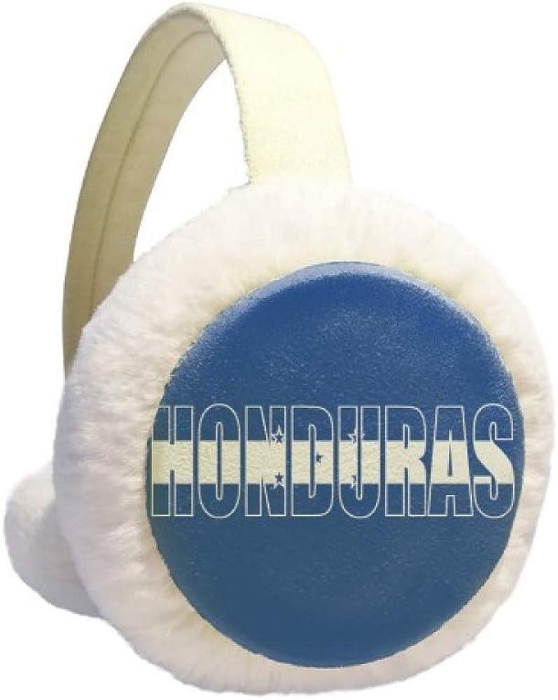 Honduras Country Flag Name Winter Earmuff Ear Warmer Faux Fur Foldable Plush Outdoor Gift