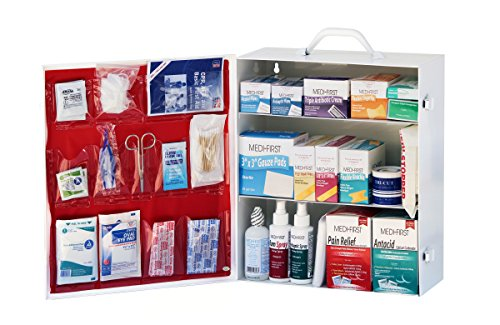 Medique 745M1 3Shelf Industrial First Aid Cabinet Filled