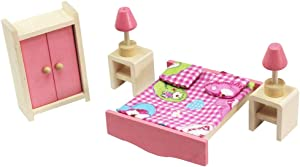 Anniston Kids Toys, 1/12 Scale Wooden Miniature Dollhouse Living Room Kitchen Furniture Set Kids Toy DIY Toys for Children Toddlers Boys Girls, Kitchen