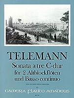 TELEMANN - Trio Sonata en Do Mayor para 2 Flautas de Pico Alto (2 Flautas) y Piano (Pauler/Hess)
