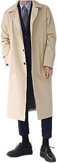 LEE FUN (リー ファン) オーバーコート メンズ 大きいサイズ ビジネス ロング丈 コート ジャケット アウタカジュアル コーディネート 黒 ベージュ ミリタリージャケット 秋 冬 春 防寒 上着 無地 スーツ トレンチ コート アウター