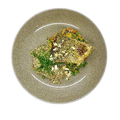 Season Family Fertiggericht Riesenbarsch-Filet mit Quinoa, Erbsengemüse & Currysauce als Fitness Essen I Fertiggerichte für Mikrowelle oder Pfanne unter Schutzgasatmosphäre verpackt I Inhalt 450 g