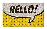 Shoe Max YH 101930 Pop Art Hello Fussmatte 44 x 74 cm, 2,1 kg