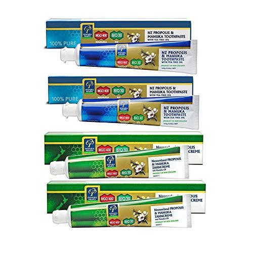 プロポリス&マヌカハニーMGO400+歯磨き粉 マヌカオイル配合 2本セット 【海外直送品】 [並行輸入品]
