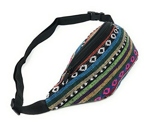 Riñonera Hippies Étnicas Rasta Urbana Chico/Chica Piscina cómoda y de Tela Estampada Novedad Moda (Hippie Ring Rose)