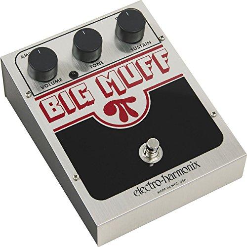 Electro-Harmonix USA Big Muff Big Muff Pi - Pedal de distorsión para guitarra, color plateado, US BM