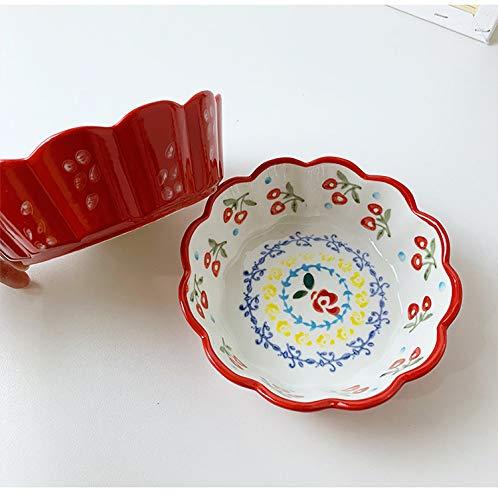 YALONG 6 Inch porcelain Bowls Set 4 Pack, 20 Ounce for Soup, Salad, Pasta, Rice, Cereal, Dessert, Yoghurt, Condiments, Side Dishes, Dip, Ice Cream Ceramic Bowls microwave safe, Oven safe