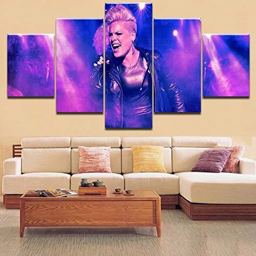 Home Dekorative Hd Druck 5 Stücke P! Nk Konzertplakat Rockstar Malerei Typ Poster Modular Für Für Wohnzimmer(NO Frame size 1)