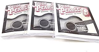 John Pearse Guitar Strings 3 pack Acoustic Silk Wound Phos Bronze #510L