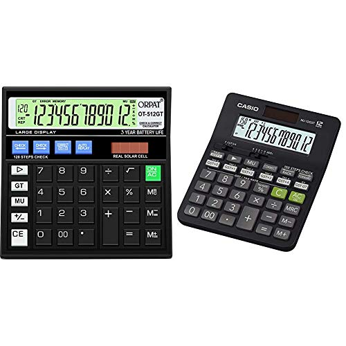 Orpat Ot-512Gt Calculator (Black) & Casio Mj-12Gst Gst Calculator (Black)