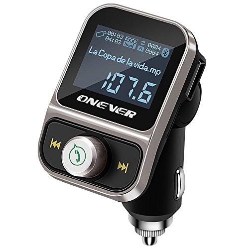 Onever Bluetooth transmetteur FM pour voiture, Bluetooth sans fil émetteur radio