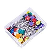 Healifty Spilli da Sarta con Testa Forma Fiori Spilli per Quilting Perni Testa Artigianato Cucito Fai da Te 50 Pezzi (Multicolore)