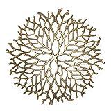 Kaloogo® Obstschale/Brotkorb/Dekoschale aus Metall 42cm (Gold) - 2