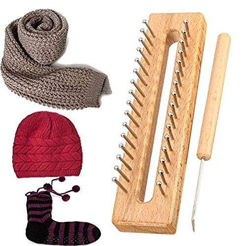 Aokshen Saver Holz Schal Mütze Socken Wolle Strickrahmen DIY Basteln Holz Weaving Tools Kit