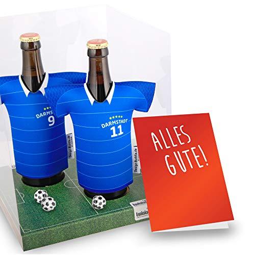 vereins-Trikot-kühler Away für FC Darmstadt 98 Fans   2er Geschenk-Box-Edition  2X Trikots   Fußball Fanartikel Jersey Bierkühler by ligakakao.de