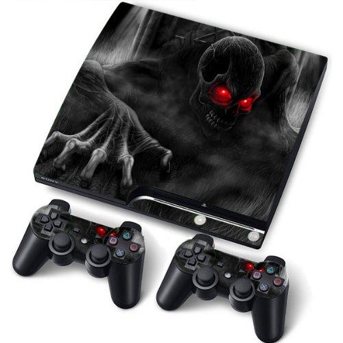 PS3 Slim Designfolie Sticker Skin Set für Konsole 2 Controller by Funky (Demon)