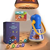 MiDeer Light Projector Moonlight Story Projector Kids Storybook Torch Storybook Projector with 8pcs Story Reels Toldder Flashlight Toys with 8 Classical Fairy Tale Premium Birthday Gift for Age 3 4 5