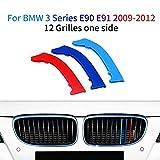 Cobear M-Colore Franjas Decorativas para Parrilla Delantera para 3 Series E90 E91 2009-2012 3 Piezas (12 Varillas)