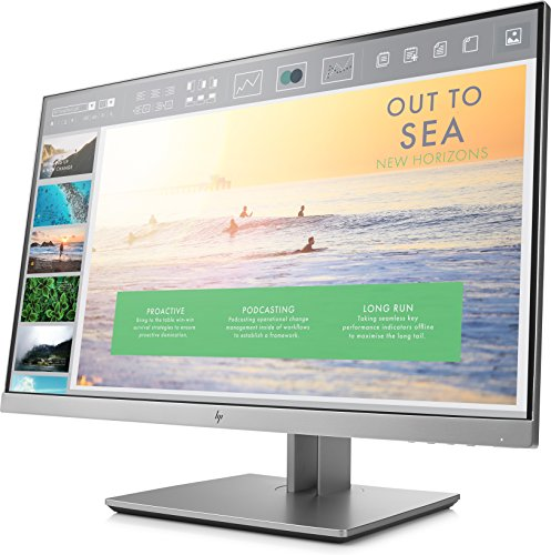 HP EliteDisplay E233 23-Inch Screen LED-Lit Monitor Silver (1FH46A8#ABA)