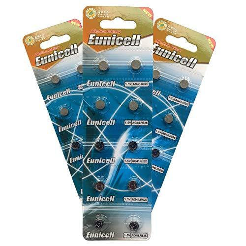 Eunicell Ag4 / Lr626 / 377 / Sr626 / 606 horloge-batterij, 100 stuks