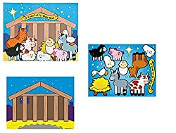 CHRISTMAS Inspirational Nativity Sticker Scene~ O Come Let us Adore Him ~ Holiday Craft Project ~ Party Classroom Activity ~ Winter Fest Prize ~ Sunday Bible School~ Stocking Stuffers
