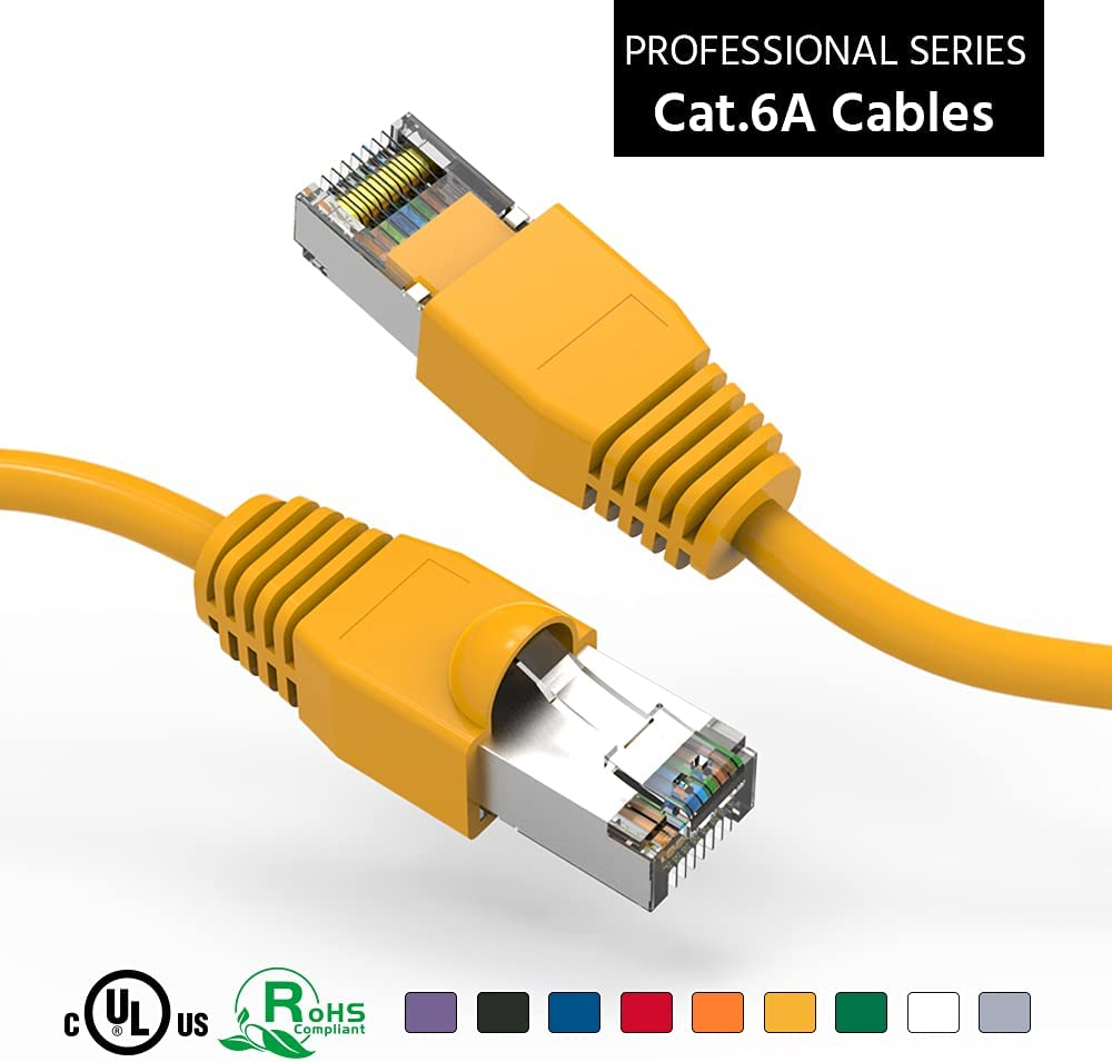 ACCL 35Ft Ranking TOP1 Cat6A Shielded SSTP Ye Network Booted Trust Cable Ethernet