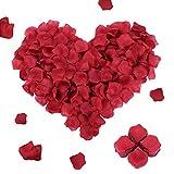 FORMIZON 3000 Pcs Pétales de Rose Rouges en Soie Artificielle, Feuilles Roses Fleurs Confettis Romantique pour Décoration la Saint Valentin, Mariage, Fiançailles, Fête, Cérémonie