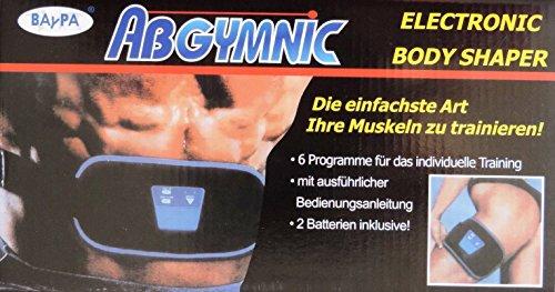 Abgymnic Abnehmgürtel Bauchwegtrainer Muskeltrainer Reizstrom inkl. 100ml Gel und Batterie