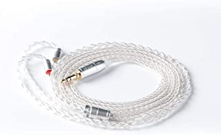 KBEAR 8 Core Upgrade 2 Pin Earphone Cable, HiFi in Ear Monitor Replacement TRS Cable Silver Plated Copper Extension Cable�with 0.78mm 2 Pin for AS10 ZS10 ZST ZS6 CCA C10 TRN V80 X6 (2 PIN 3.5mm)