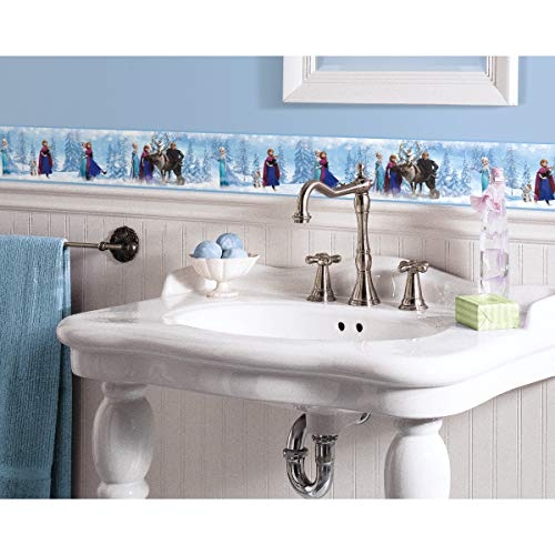 RoomMates RM - Disney Frozen Bordüre Wandtattoo, PVC, bunt, 23.5 x 13 x 2.5 cm
