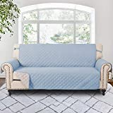 RHF Reversible Sofa Cover,Couch Covers for 3 Cushion Couch,Couch Covers for Sofa, Couch Cover, Sofa Covers for Living Room,Couch Covers for Dogs,Sofa Slipcover,Couch Protector(Sofa: Light Blue/Beige)