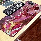 NZTCRFP Alfombrilla De Ratón De Gran Chica De Juego Rosa 800X400X3MM Mouse Pad Gaming XXL para Ratón Y Teclado Impermeable Y Antideslizante para Gaming Oficina Casa Colegio Escritorio