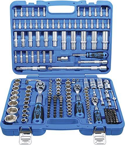 BGS 2243 | Steckschlüssel-Satz Sechskant | 192-tlg. | Antrieb 6,3 mm (1/4 Zoll) / 10 mm (3/8 Zoll) / 12,5 mm (1/2 Zoll) | inkl. Koffer