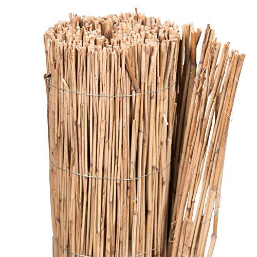 AFP Schilfrohrmatte Winterschutz Pflanzen, 80 x 100 cm/Stammschutz Bäume/Frostschutz Kübelpflanzen/Bastelmatte/Winterschutz Pflanzen / 2 Jutesäckchen gratis