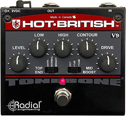 Radial Tonebone Hot British V9 distortion effects pedal