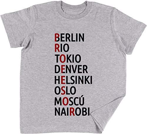 La Casa Delaware Papel Nombres De Ciudades Niños Chicos Chicas Unisexo Camiseta Gris