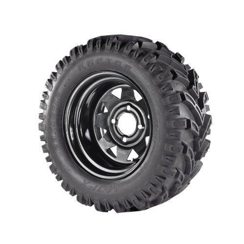 "12"" Black Steel Wheels on Mud Tires (LIFT REQUIRED)"