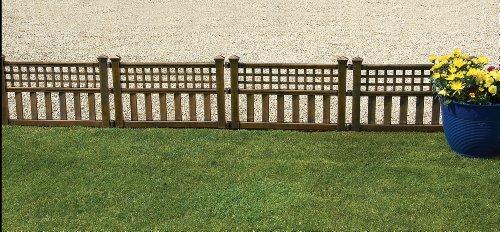 Greenhurst von vier Kunststoff Zaun Paneele in Bronze