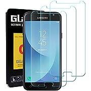 LeeIU [3 Stück Panzerglas Schutzfolie für Samsung Galaxy J3 2017, Panzerglas Displayschutzfolie Anti-Kratzen Panzerfolie Schutzfolie, Anti-Öl, 9H Echt Glas (Transparent)